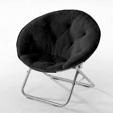 Amazon Com Urban Shop Faux Fur Saucer Chair With Metal Frame One Size Black Toys Games
