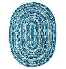 pillowfort blue braided area rug 5x7