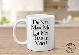 teacher mug teacher voice mug gift for teacher funny coffee mug