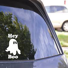 Hey Boo Decal Ghost Decal Ghost Sticker Haunted Sticker Etsy In 2020 Halloween Decals Halloween Stickers Nature Decal