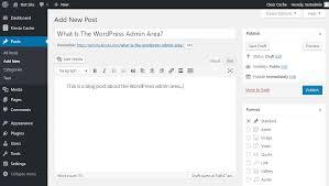 what is the wordpress admin dashboard