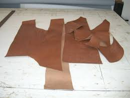 re tanned veg leather off cuts
