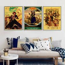 Bioshock Retro Poster Home Furnishing Kraft Game Drawing Painting Wall Stickers With Free Shipping Worldwide Weposters Com