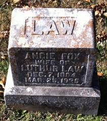 Angie Lou Ada Fox Law (1884-1926) - Find A Grave Memorial