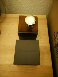 watch mens brown leather strap