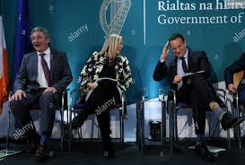 Taoiseach Leo Varadkar (right) with Wendy Dixon (centre), a mature student  taking part in the Turn