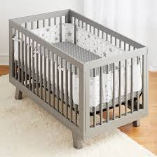 star light white and gray crib bedding set
