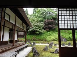 zen garden at buddhist temple picture