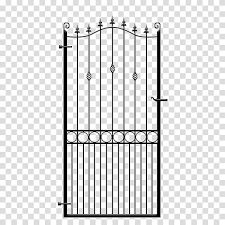 Wrought Iron Terrace Garden Gate Fence Wrought Iron Gate Transparent Background Png Clipart Hiclipart