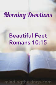 morning devotions beautiful feet