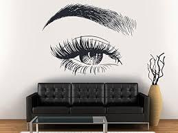 Amazon Com Eyelashes Decal Eyelashes Eye Wall Decal Eyelashes Eye Wall Sticker Girls Eyes Eyebrows Wall Decor Beauty Salon Decal Make Up Wall Decor Kau393 Handmade
