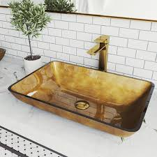 glass bathroom vessel sink