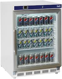 under counter glass door display fridge