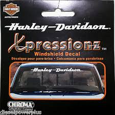 Harley Davidson Motorcycle Bike Front Window Decal Sticker Bar Shield Ride Hd Ebay