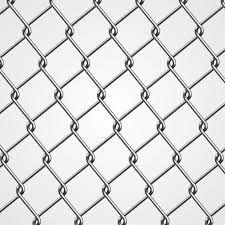 Realistic Metal Chain Fence Vector Download