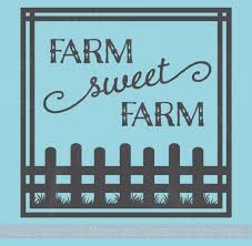 Farm Sweet Farm Wall Decal Stickers With Border Fence Wall Letters 12x12 Wall Decor Plus More