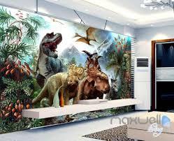 3d Dinosaurs Mountain Wall Murals Wallpaper Home Decor Dinosaur Mural Mural Wallpaper Dinosaur Wall Decor