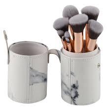 makeup brush set with brush holder pot