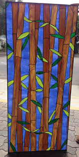 bamboo sky stained glass window