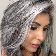 gray hair color transformation