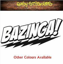 290mm Bazinga Big Bang Theory Car Decal Sticker Winscreen Window Geek Nerd New Ebay