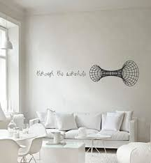 Science Art Through The Wormhole Vinyl Wall Decal For Your Lab Classroom School University Scientific Decor Id 121011 Science Decor Vinyl Wall Decals Wall Decals