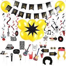 Conjunto De Decoracion Para Fiesta De Cumpleanos Rock N Roll