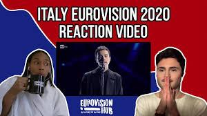 Italy   Eurovision 2020 Reaction   Diodato - Fai rumore - YouTube