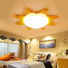 Cute Acrylic Led Flush Light With Sun Shape Blue Green Yellow Red Ceiling Lamp For Kindergarten Susuohome Com