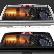 Amazon Com Simynola Megatron Decepticon Perforated Film Car Accessories Truck Window Wrap Car Truck Decal Car Idea Suv Decal For Truck N286 Frst 18 X 58 Sports Outdoors