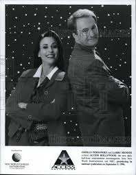 1996 Press Photo Giselle Fernandez and Larry Mendte on Access Hollywoo |  Historic Images