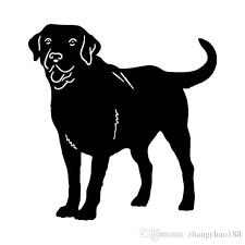 2020 12 2 12 8cm Labrador Retriever Dog Car Cover Scratch Animal Vinyl Decal Car Sticker Black Silver Ca 1186 From Zhangchao188 0 34 Dhgate Com