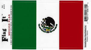 Amazon Com Mexico Flag Decal For Auto Truck Or Boat Automotive