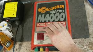 Electric Fence Energizer Repair Gallagher M4000 Youtube