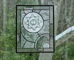 abstract stained glass panel textured