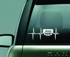 Jeep Love Ekg Grill Decal Usc Creations