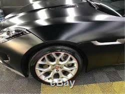 Hot Car Metallic Pearl Satin Matte Chrome Black Vinyl Film Auto Wrap Foil Decal