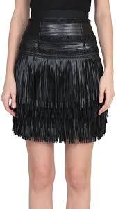 amen leather fringe skirt black 1 042