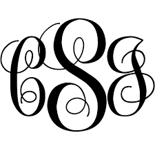 Curly Monogram Decal 904 Custom