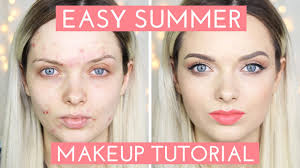 acne coverage easy summer makeup