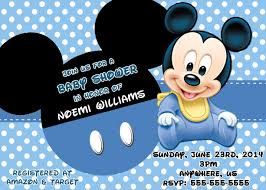 Baby Mickey Mouse Baby Shower Invitations 8 50 Baby Shower De