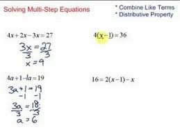 simplify solve multi step equations