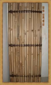 Split Black Bamboo Fence