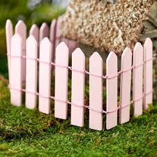 Miniature Pink Wood Picket Fence Fairy Garden Supplies Craft Supplies Factory Direct Craft