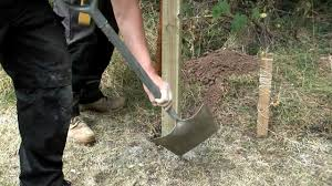 How To Install A Fence Post Into Soil Youtube