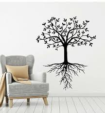 Vinyl Wall Decal Leaves Tree Family Floral Roots Forest Nature Stickers G1089 Ebay
