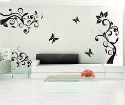 Vinyl Wall Decal Flower Floral Tree Vine Butterfly Butterflies Home House Art Wall Decals Wall Sticker Stickers Baby Room Kid A200 Mikiyoshop On Artfire