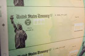 Stimulus checks from the government ...