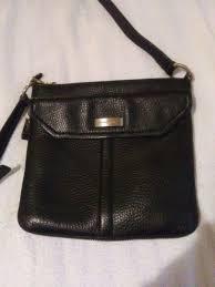 black pebbled leather tote purse