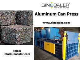 aluminum cans press machine